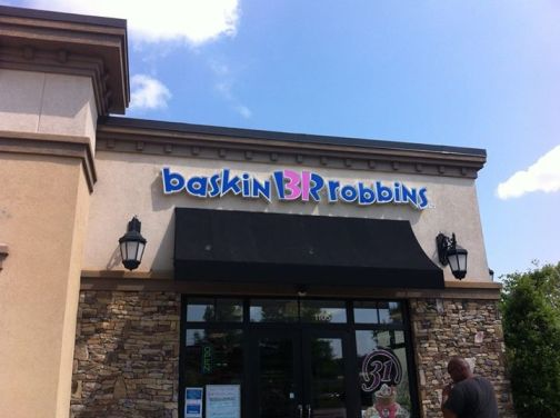 Baskin Robbins channel letters and awnings