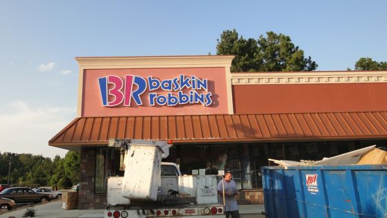 Baskin Robbins channel letters