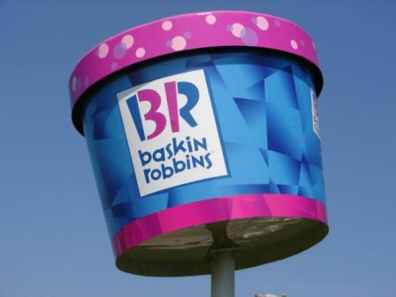 Baskin Robbins custom monument