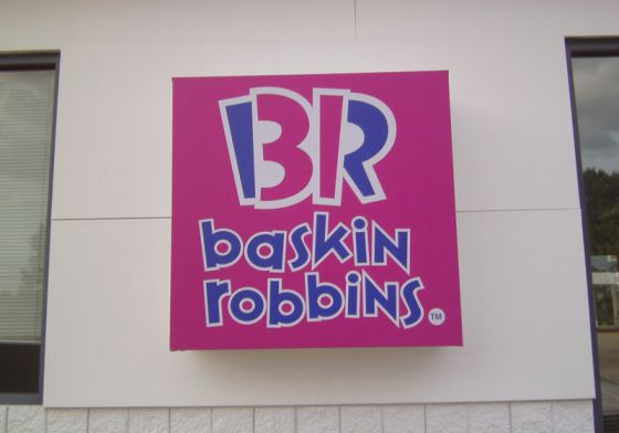 Baskin Robbins wall cabinet sign
