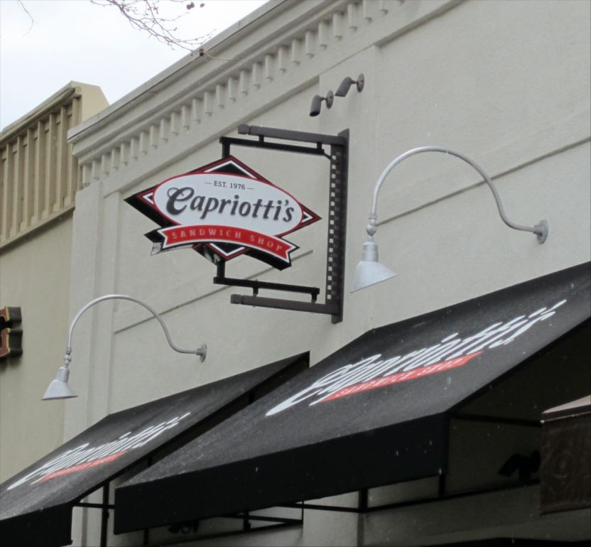 Capriotti's blade sign