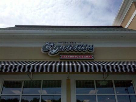 Capriotti's channel letters and awning