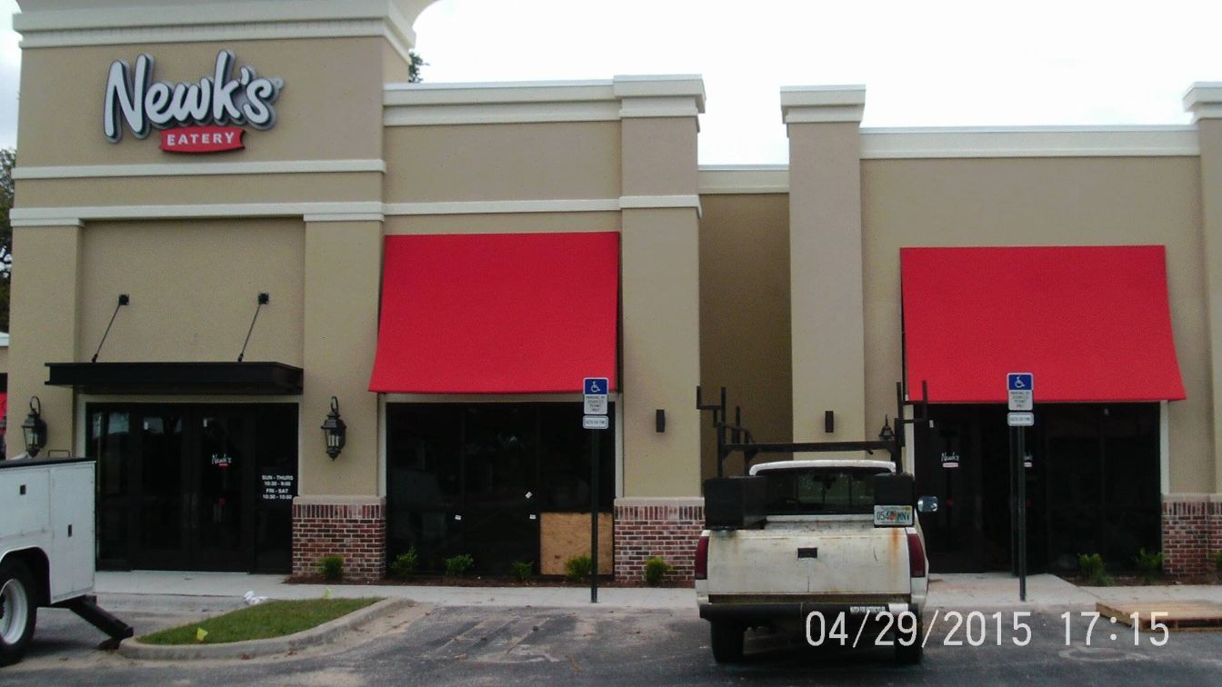 Newk's channel leters and awnings
