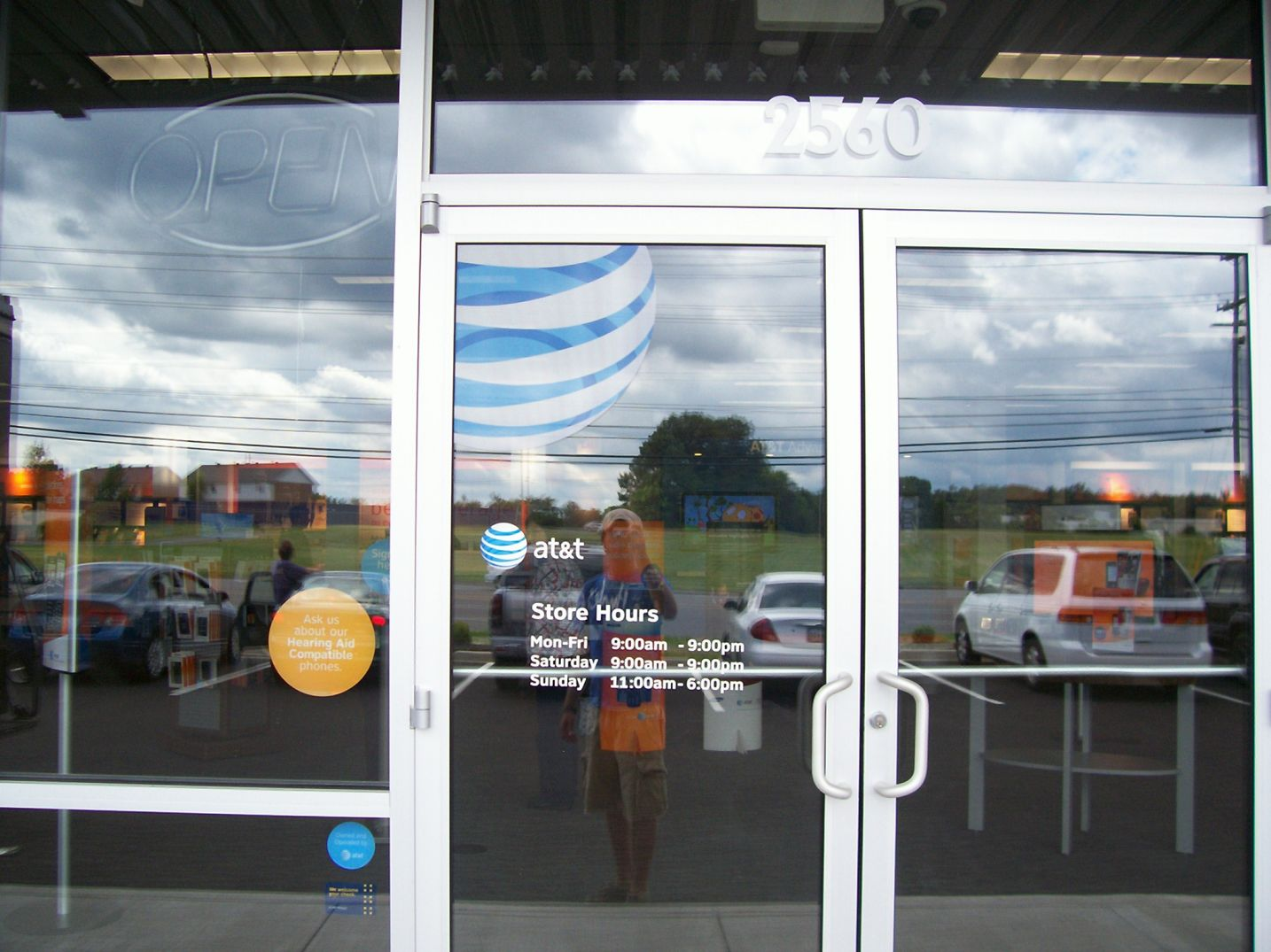 AT&T window graphics